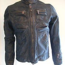 Diesel Men's Motorcycle Jacket - Large - Dark Brown Photo
