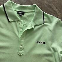 Diesel Mens T Randy Broken Polo Shirt Light Green Size M Photo