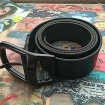 Diesel Mens Black Leather Belt Photo