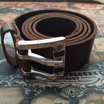 Diesel Mens Brown Leather Belt Photo