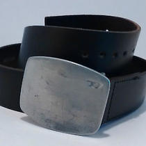 Diesel Mens Buckle & Belt Size 36 Mod. N. Bamboox 100% Leather Made in Italy Photo