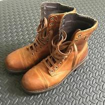 Diesel Mens Combat Boots Tan 41 8 8 1/2 Leather Photo