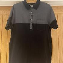 Diesel Mens Grey & Black Polo Top - Size Large Photo