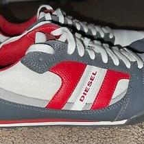 Diesel Mens Gunner Gray Fashion Sneaker Grey Gray Red White - Us 8 Eur 40.5  Photo