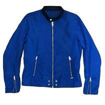 Diesel Mens Lightweight Bomber Jacket Royal Blue Zip Cuffs Size Xl Photo