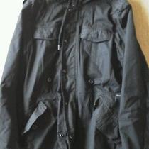 Diesel Mens Parka Jacket Hoodie Black Size Medium Guc Free Shipping Photo