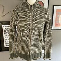 Diesel Mens Wool Blend Knitted Woven Hooded Jacket Hoodie Full Zip Size Medium Photo