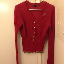 Diesel Mohair Red Cardigan Photo