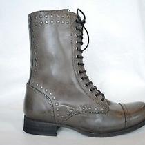 Diesel New Gray Bootie Wild Land Arthik Laceup Boots Zip 325 Ankle Nib Shoes 6 Photo