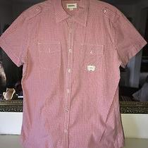 Diesel Red Gingham Shirt Size Xl. (Missing a Button) Photo