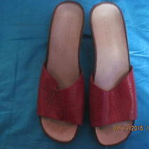 Diesel Red  Women's Sandals / Slippers Size 9.   Photo
