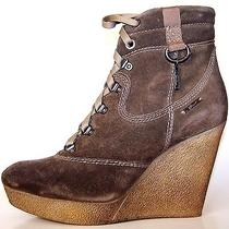 Diesel Rosco Suede Italian Designer Wedges Cool Boots Booties Fashion 10 Photo
