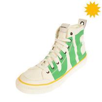 Diesel S-Astico Mc Canvas Sneakers Eu 42.5 Uk 8.5 Us 9.5 Dirty Look Printed Logo Photo