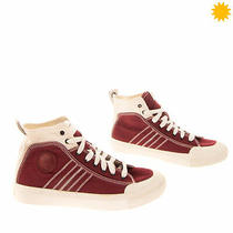 Diesel S-Astico Mid Lace Canvas Sneakers eu42.5 uk8.5 us9.5 Contrast Stitching Photo