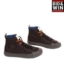 Diesel S-Astico Mid Lace High Top Sneakers Eu 38.5 Uk 5.5 Us 8 Worn Look Logo Photo