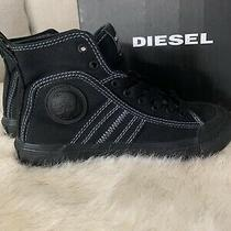 Diesel S-Astico Mid Lace Women High-Cut Sneakers Balck Size 6.5 Photo