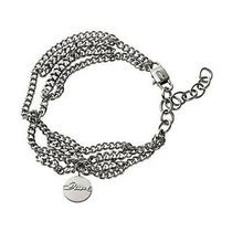 Diesel Silver-Tone Stainless Steel Chain Bracelet Dx0412 80 Bnwt Authentic  Photo
