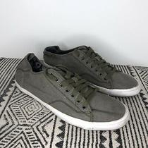 Diesel Size 11 Lowday Navy Green Canvas Casual Lace Up Fashion Sneakers Shoes Photo