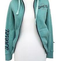 Diesel Size Xs Ladies Green Zip Up Hoodie Jacket Long Sleeved Soft Material Photo