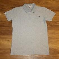 Diesel Slim Muscle-Fit Polo Shirt Top M Medium Grey Photo