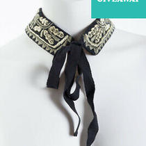Diesel Socorian Embroidered Textile Wool Collar Necklace Photo