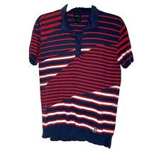 Diesel Striped Collared Shirt in Italian Yarn. This Is a Size Medium. Photo