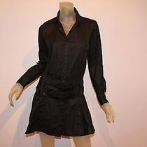 Diesel Stylelab Black Cotton Distressed Rare and Unique Dress Sz Small S  Photo