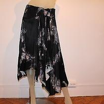 Diesel Stylelab Black Silk Maxi Skirt Colored Sz 27 Rare and Unique Collectors Photo