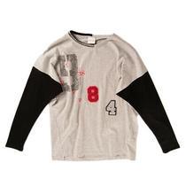 Diesel T-Shirt Top Size 12y Melange Colour Block Sequins Glitter Coated Front Photo