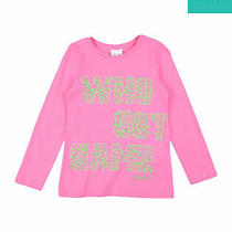 Diesel T-Shirt Top Size 8y Printed Front Back Inscription Long Sleeve Crew Neck Photo