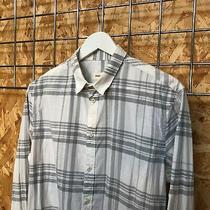 Diesel Tartan/check/plaid Shirt White/greym Medium - Vintage Black Gold Photo