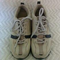 Diesel Taupe Leather Charcoal Accents Walking Sneakers Women's Shoe Size 9.5 Photo