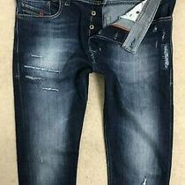 Diesel Tepphar Denim Jeans Mens W34 L34 Dark Blue Slim Carrot Fit Stretch Photo