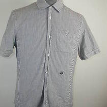 Diesel Trendy Gray White Ss Muscle Shirt L Photo