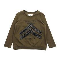 Diesel Tribbis T-Shirt Top Size 8y Glitter Sequins Embellished Raw Neckline Photo