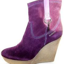 Diesel Unkle Jesse Suede Italian Designer Wedges Cool Boots Booties Fashion 7.5 Photo