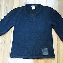 Diesel v-Neck See Through Sweater Black Women's Size S Photo