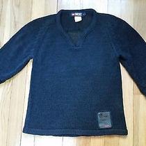 Diesel v-Neck See Through Sweater Black Women's Size S Photo