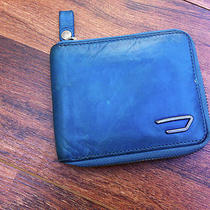 Diesel Wallet Mens Diesel Zippered Wallet Vintage Blue Mint Condition Photo
