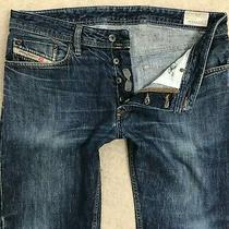 Diesel Waykee Regular Fit Denim Jeans Mens W32 L30 Dark Blue Straight  Photo