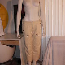 Diesel Women Khaki Antique 195 Cargo Shorts Pants Size 10 Photo