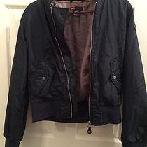 Diesel Women's Bomber Jacket Xs Navy Blue Photo