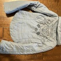 Diesel Womens Cropped Coat Size Small With Embroidery Blue Photo