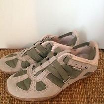 Diesel Womens Fashion Sneakers Green/beige Size 7.5 Gently Worn Photo