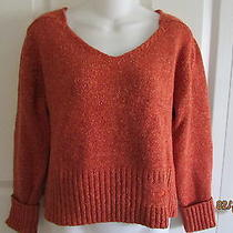 Diesel Women's Sweater Small v-Neck Rusty/orange in Color Photo
