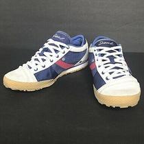 Diesel Women Size 7  Blue Gray Suede Sneaker Photo