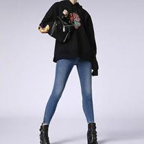 Diesel Women Skinzee Low 00sgsa Skinny Jeans Blue Size 26w Photo