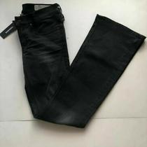 Diesel Womens Black Louvboot Slim Boot Cut Low Waist Jeans Size W25 L32 Dl21 Photo