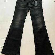 Diesel Womens Black Louvboot Slim Boot Cut Low Waist Jeans Size W26 L30 Dl21 Photo