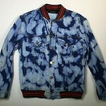 Diesel Womens Jean Jacket Blue Acid Wash Size 12 Button Front Photo